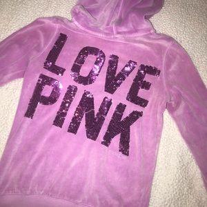 Pink- Victoria Secret- Purple Velvet Sweater